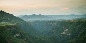 El pueblo de Malinaltenango en el Estado de México