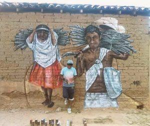 Arte urbano de grafitti en Guerrro, México, Monyer GH